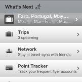 Homebildschirm der iOS App