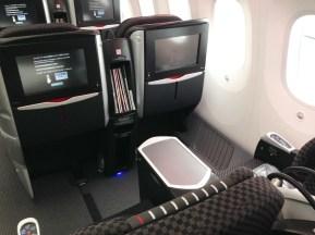 JAL Business Class Boeing 787 Sitze Hinten