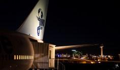 Flughafen Arlanda im Hintergrund