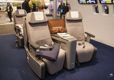 Die neue Lufthansa Business Class mit Lie-flat-Sitzen