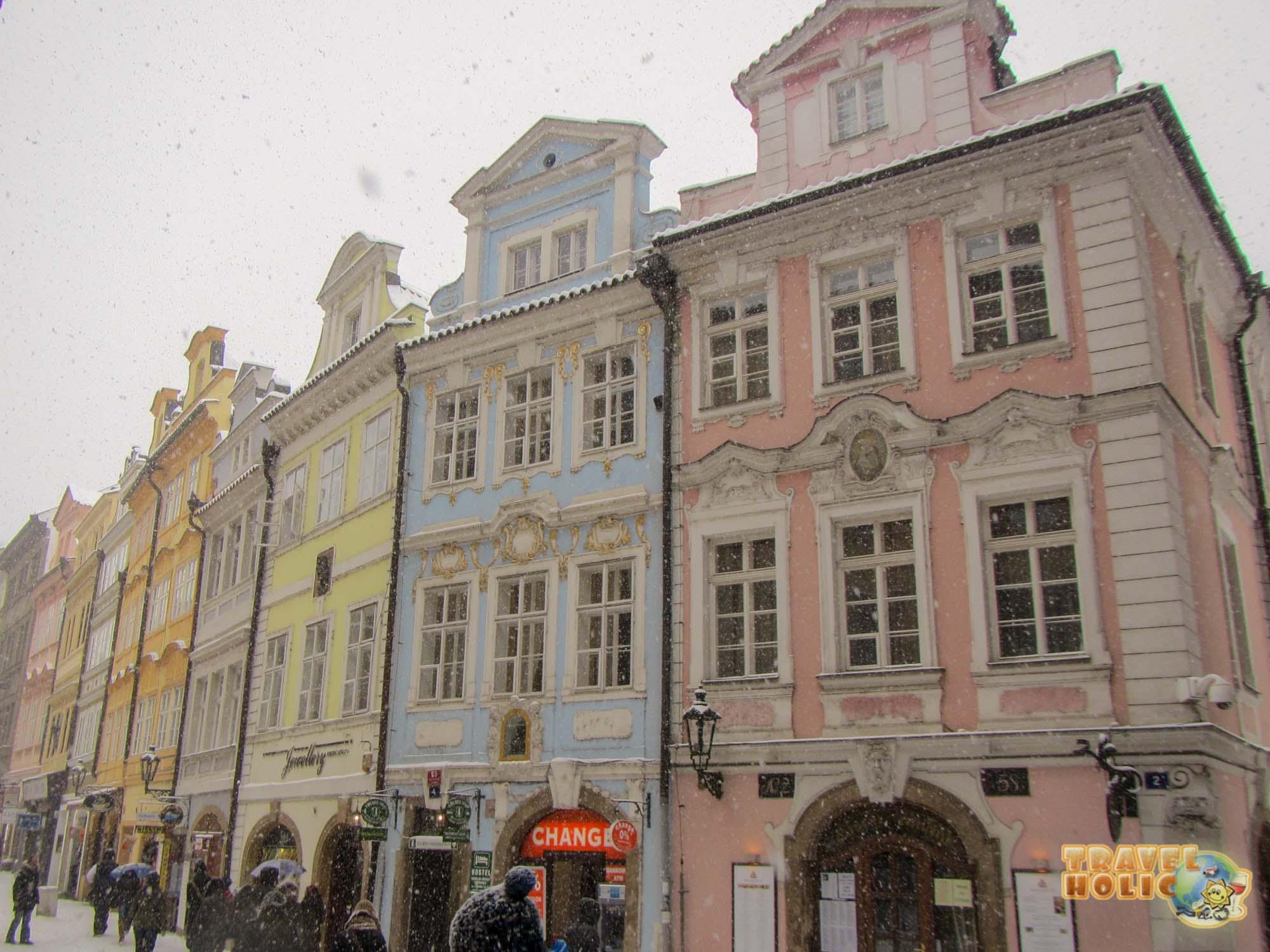 Une rue colorée de Prague