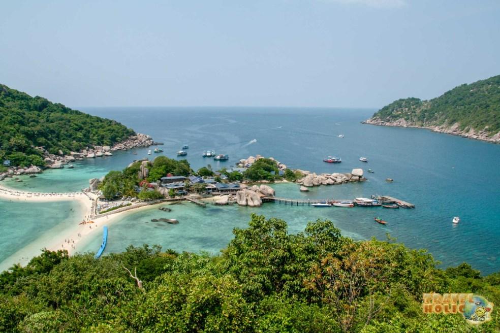 Point de vue depuis Koh Nang Yuan en Thaïlande