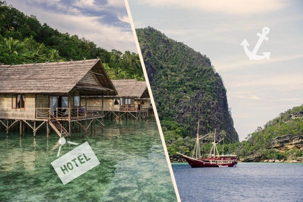 Hôtel ou bateau de croisière à Raja Ampat