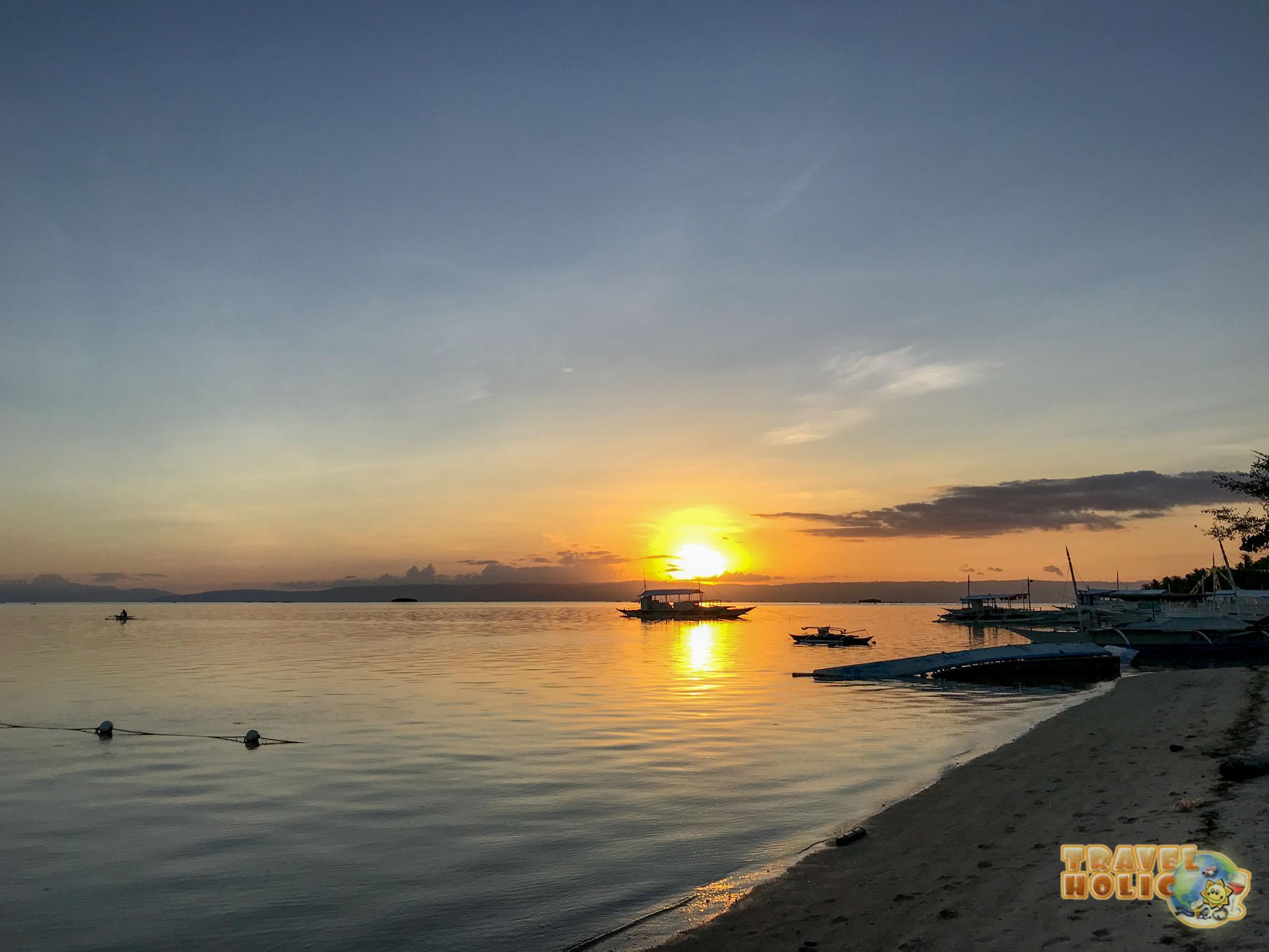 Fin de journée à Danao Beach sur l'île de Panglao