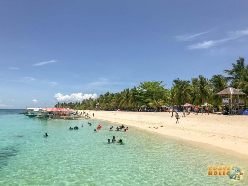 Plage de Kalanggaman Island aux Philippines