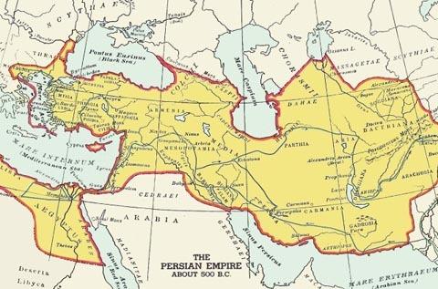 Peta kerajaan Persia