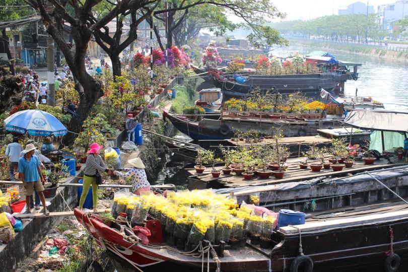 Binh Dong Floating Flower Market.Binh Dong Floating Flower Market Saigon Travel Lush