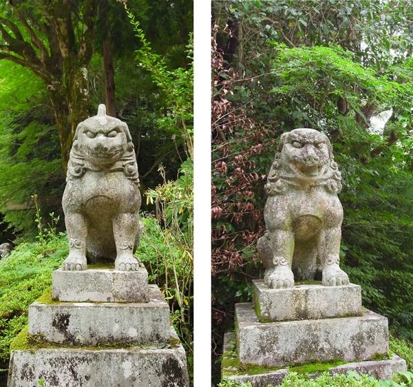 建水分神社 狛犬
