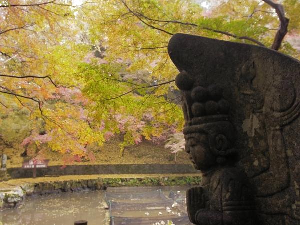 延命寺と仏像と紅葉