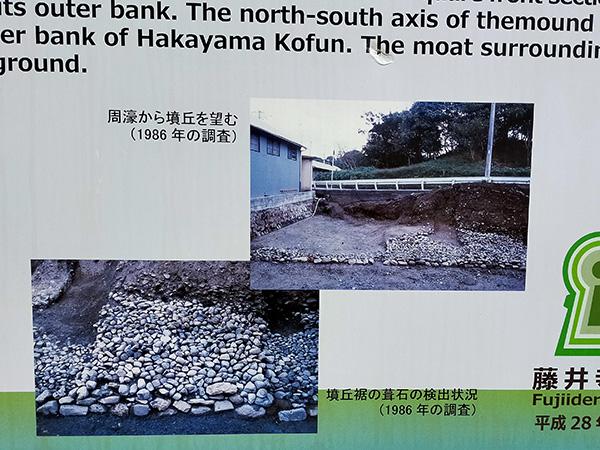 浄元寺山古墳南側の葺石写真