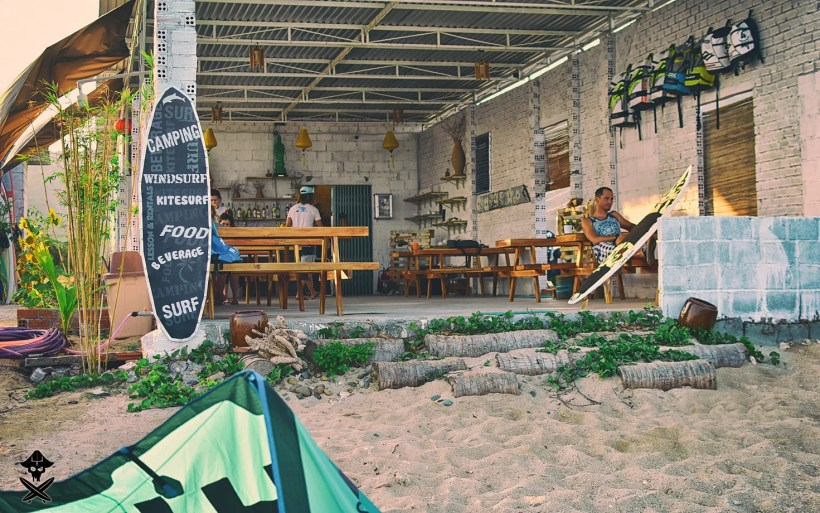 reception, chill out zone and restaurant in Vietnam Surf Camping in the best kitesurfing spot in Vietnam - Phan Rang
