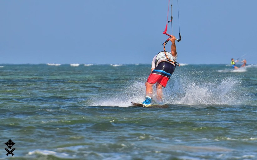 freestyle kitesurfing at Phan RAng spot in Vietnam