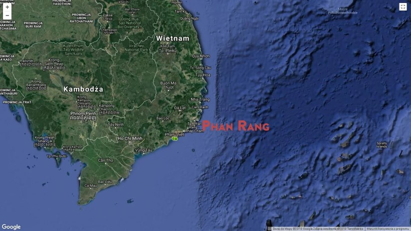 phan rang location on the map of vietnam