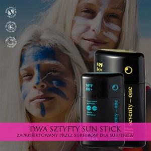 sztyfty zinc sun stick kolorowe dla surferow krem
