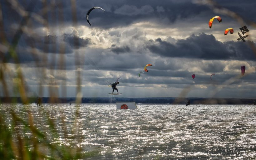 kicker kite park feature competition kiteboarding extreme poland hel flyn