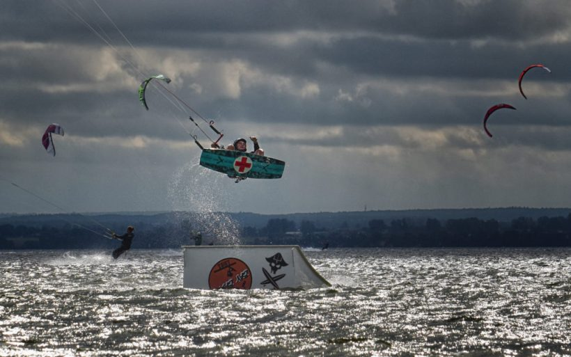 kicker kitesurfing obstacle features competition poland hel