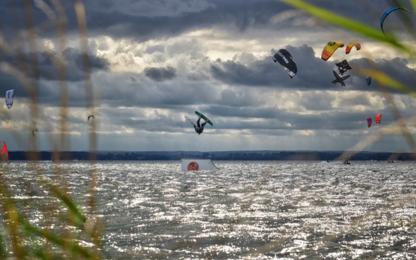 kiteboarder kicker tantrum grab flyn poland hel competition