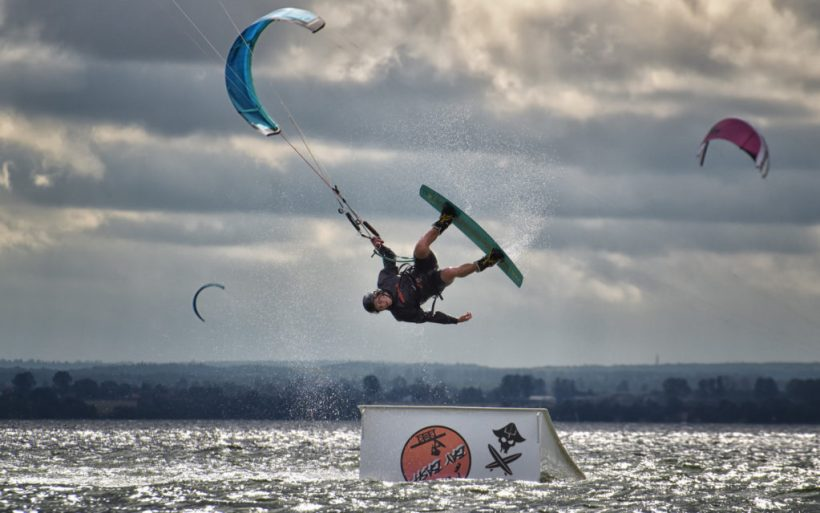kitesurfing kicker tantrum features kite park hel poland