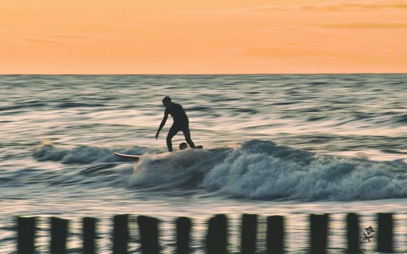long exposure sunset surf photography baltic poland