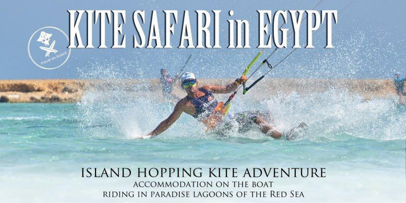 egypt kite safari islands boat