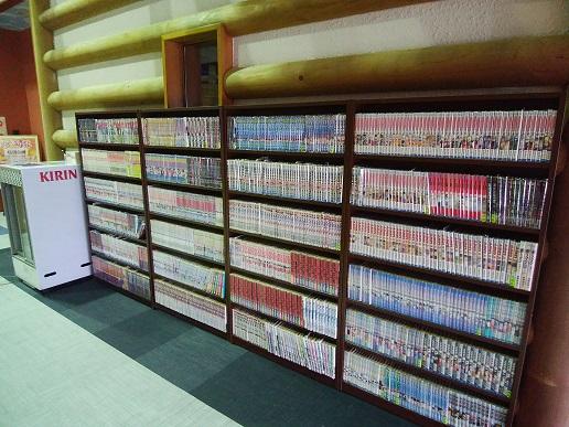 2階サウナフロア 漫画コーナー