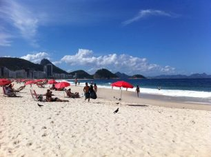 A wide stretch of perfect sand on Copacabana Beach