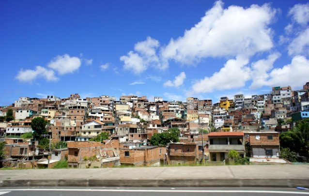 A Brazilian favela or slum