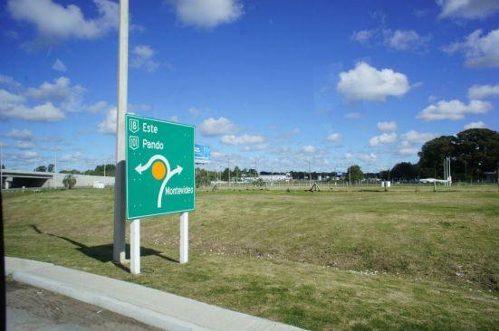 Uruguay Road Sign