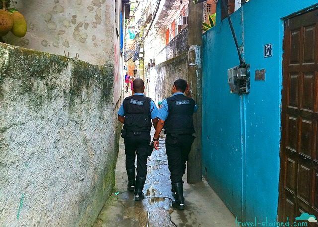 The UPP patrolling the streets of Favela Vidigal