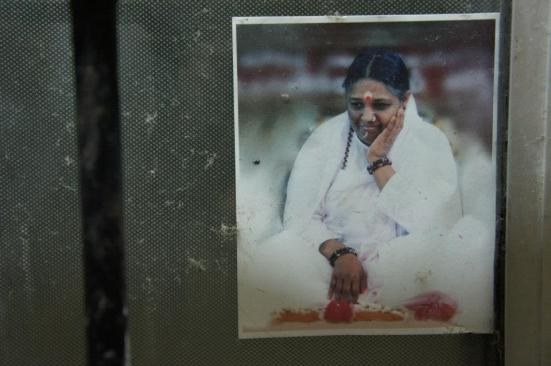 Images of the 'guru' all over the place