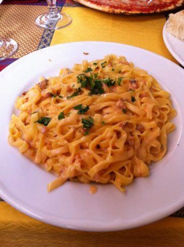 Perfect pasta: Salmon Tagliatelle in Rome