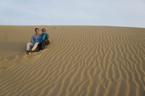On a sand dune in the Thar Desert