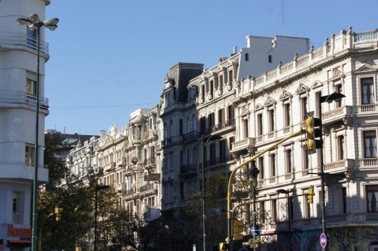 Beautiful buildings built during the height of Argentina's economy