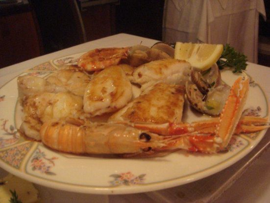 A grilled seafood feast