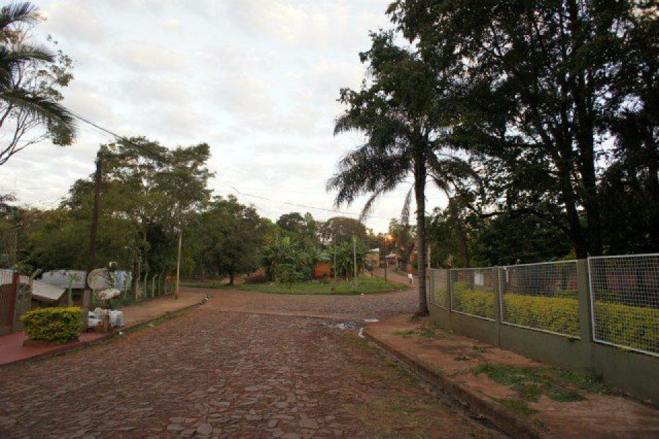 The red streets of Puerto Iguazu