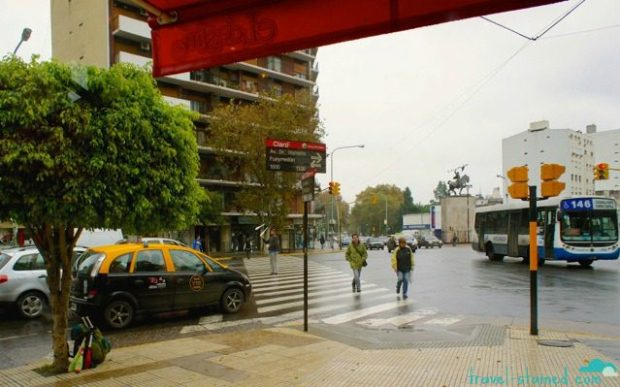 A rainy morning in Buenos Aires