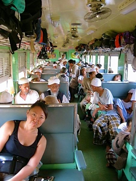 On the 3rd class train with a lot of Malaysian Muslims