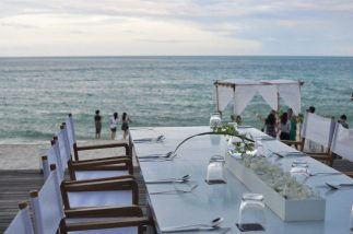 Our beachside wedding