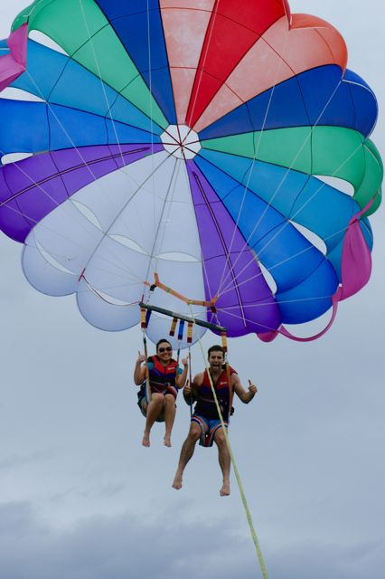 Parasailing in the Philippines, 2011
