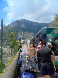Crazy traffic on narrow, narrow roads