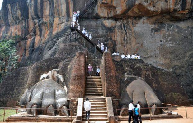 Sigiriya's epic Lion's Paws