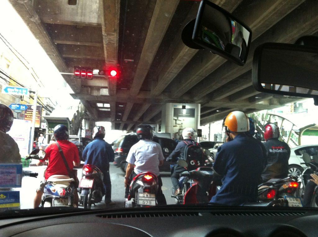 ...and into Bangkok traffic