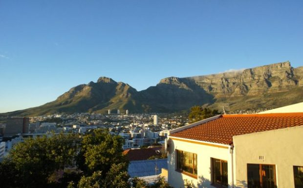 Table Mountain from Bo-Kaap