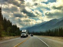 Single lane mountain highways in British Columbia
