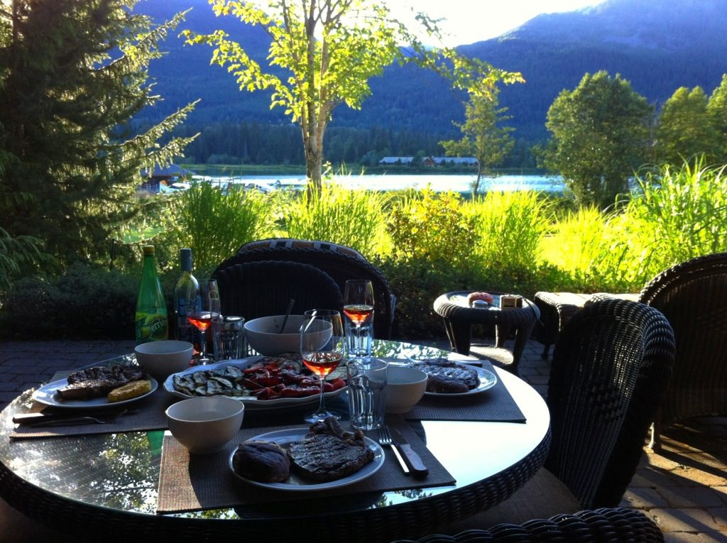 Dinner with a view in glorious Whistler