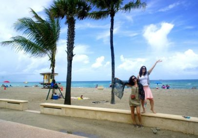 Hanging out on Hollywood Beach