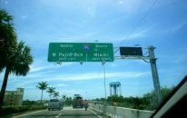 On the road to Miami from Fort Lauderdale