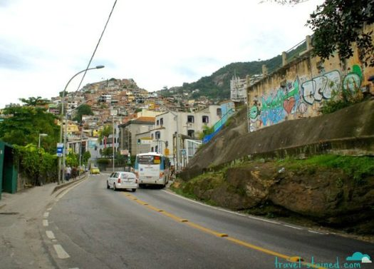 Favela Vidigal up ahead