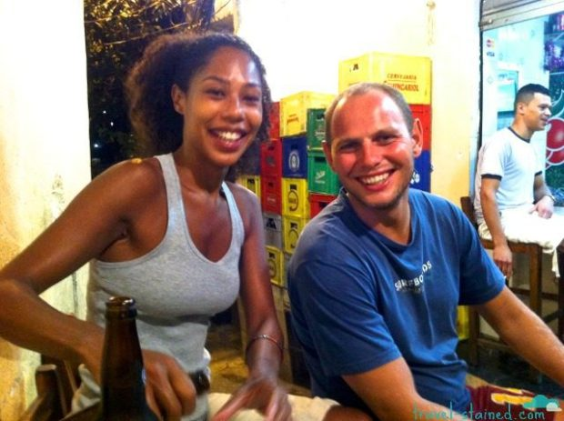 Vanessa and Tito, the owners of Favela Vidigal