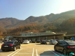 The beautiful Gapyeong rest stop